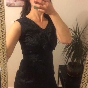 Vintage Black Brocade Dress